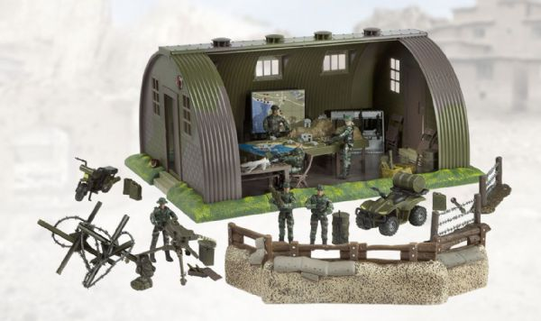 World Peacekeepers Military Base Army Toy Includes 6 Figures And Vehicles 3+ Yrs
